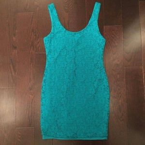 Urban Planet Lace Teal Dress